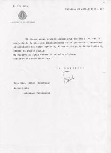 Lettera di conferimento del Prefetto di Vercelli-1933