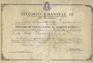 Diploma di III Classe al Merito-1933