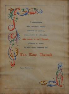 Diploma in occasione della celebrazione del Cinquantenio-1966