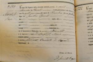 Atto di Battesimo-1879