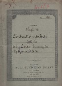 Contratto di vitalizzio-1911